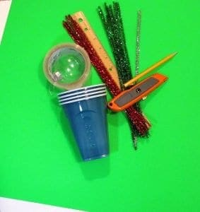 Supplies to make a 2-in-1 Christmas Activity