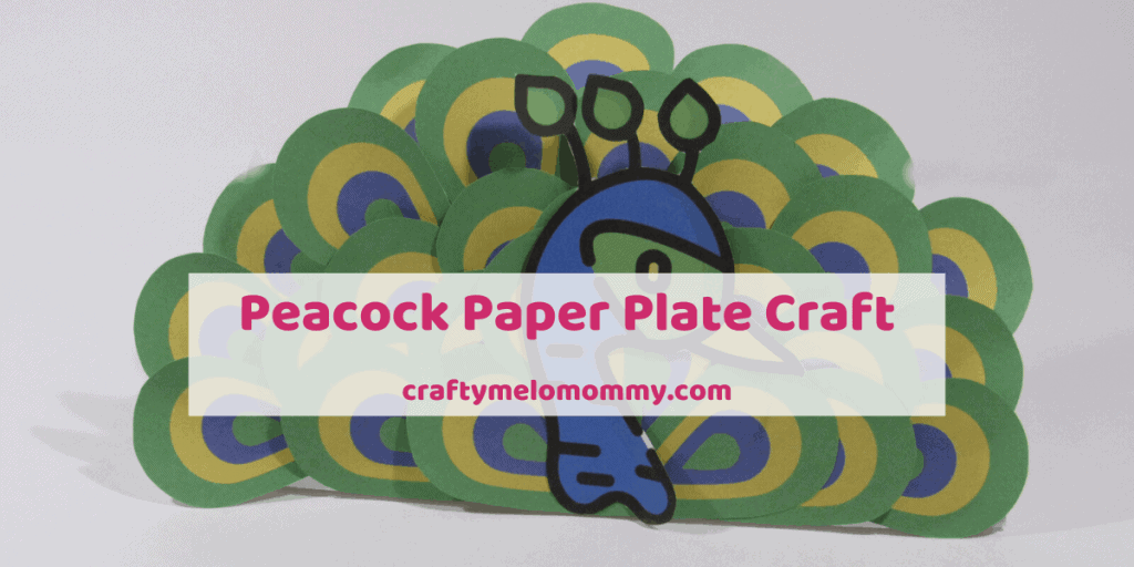 Are you looking for a FREE PRINTABLE peacock craft your kids can make? I have a perfect paper plate peacock craft great for toddlers and preschoolers. Parents can set this craft up ahead of time to make creating the paper plate peacock even easier! All you need are a few supplies. This craft is quick and easy. It also is a great craft idea to go along with a bird unit study, a trip to the zoo, or just having fun. Also included in the post are books and shows about peacocks. #peacockcraftforkids.