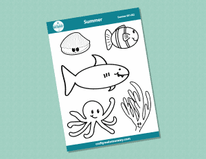 Summer stickers for kids to color easy summer craft