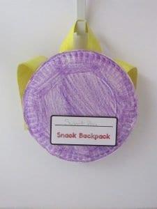DIY snack backpack for kids to make