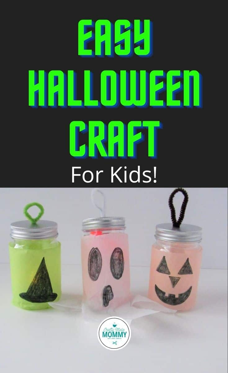Make these 3 fun Halloween luminaries in 20 mins or less with your kids! The directions have also been separated so parents can set up the craft beforehand and save some time. Your kids will love making their own Halloween decorations. #diyhalloweencrafts #halloweenartprojects