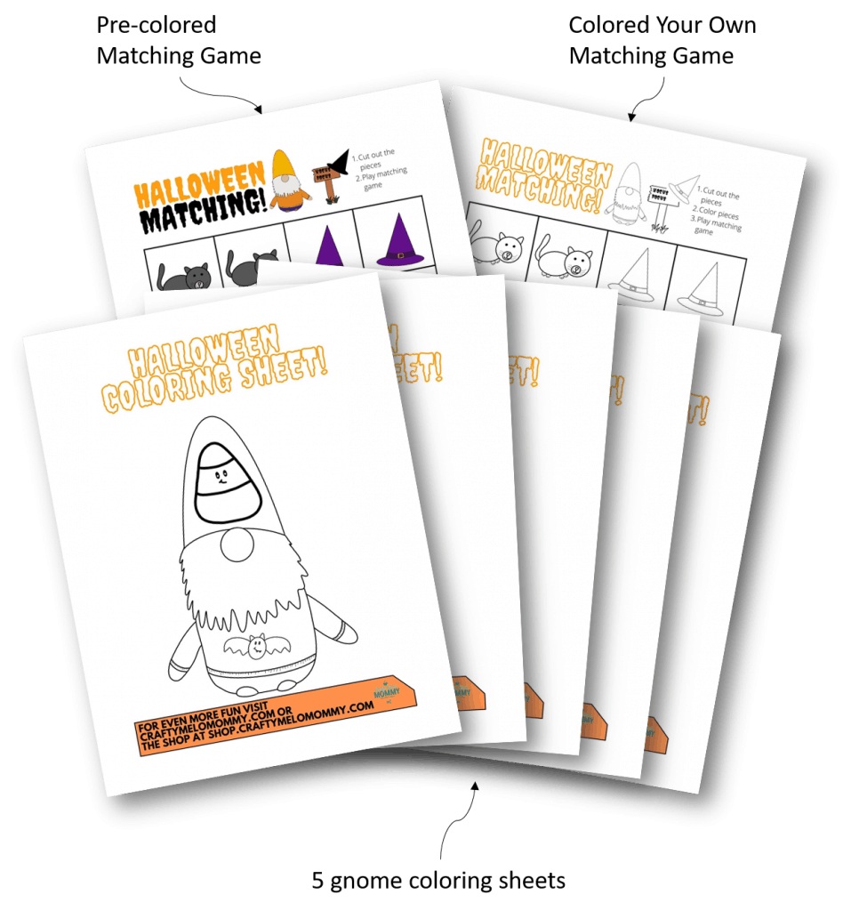 Printable Halloween workbook