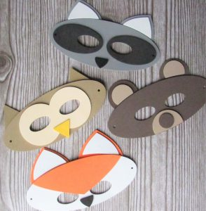 Woodland Forest Animal dress-up mask craft kits for kids to make