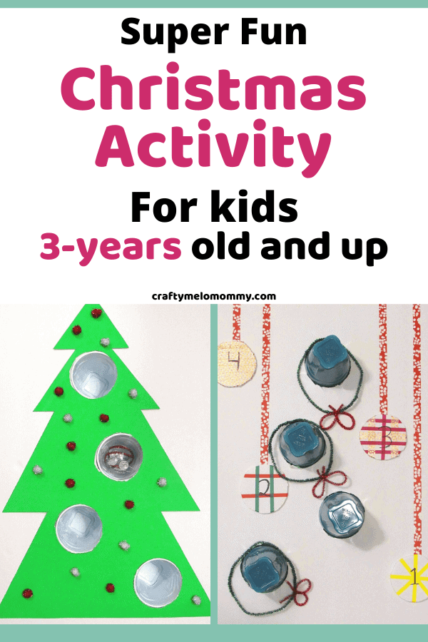 Do you want a fun Christmas activity your whole family can do together? This 2-in-1 Christmas holiday activity is a perfect way to entertain your family at home. Making the games are not hard, and your kids can help you. Best of all, the supplies can be bought online or in the grocery store! These Christmas activities are also great for kids to practice writing numbers, taking turns, keeping score, and adding. Keep your family entertained this Christmas. #FamilyChristmasActivity #XmasActivity