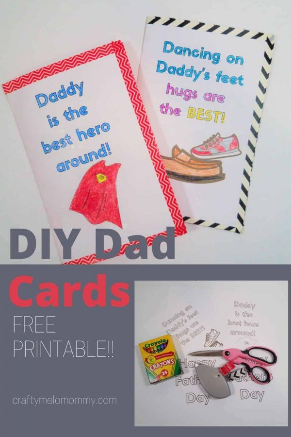 kids can make a card for dad