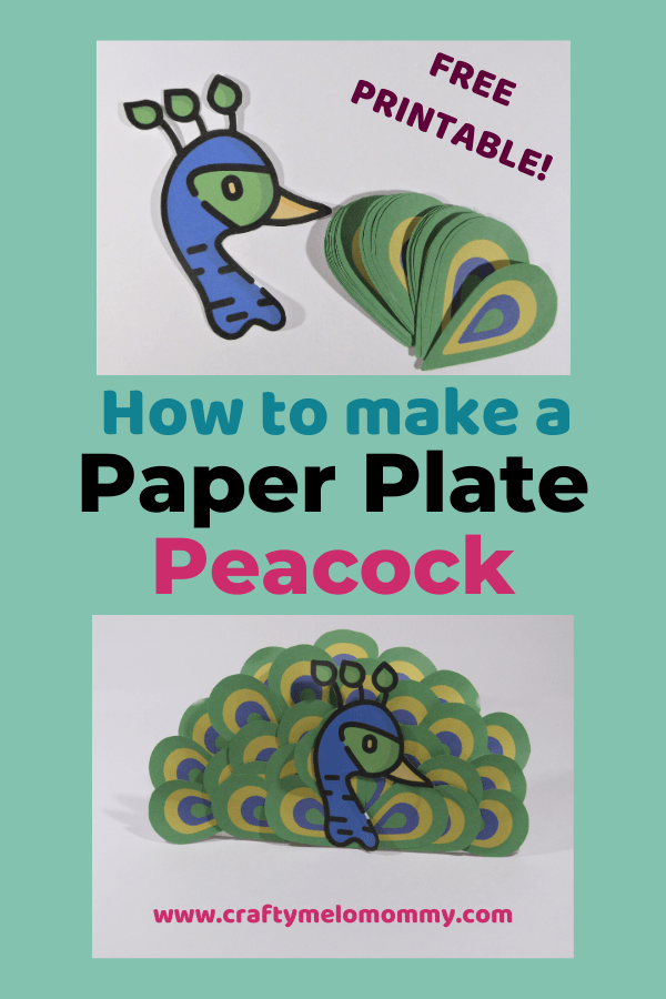 Looking for a peacock craft idea for a bird unit study, a trip to the zoo, or just having fun? I have a perfect paper plate peacock craft great for toddlers and preschoolers. This peacock paper plate post also includes books and shows about peacocks. Best of all, it has a FREE PRINTABLE to save you time. Parents can set this craft up ahead of time to make creating the paper plate peacock even easier! All you need are a few supplies. #easypeacockcraftforkids #peacockcraftideapreschool