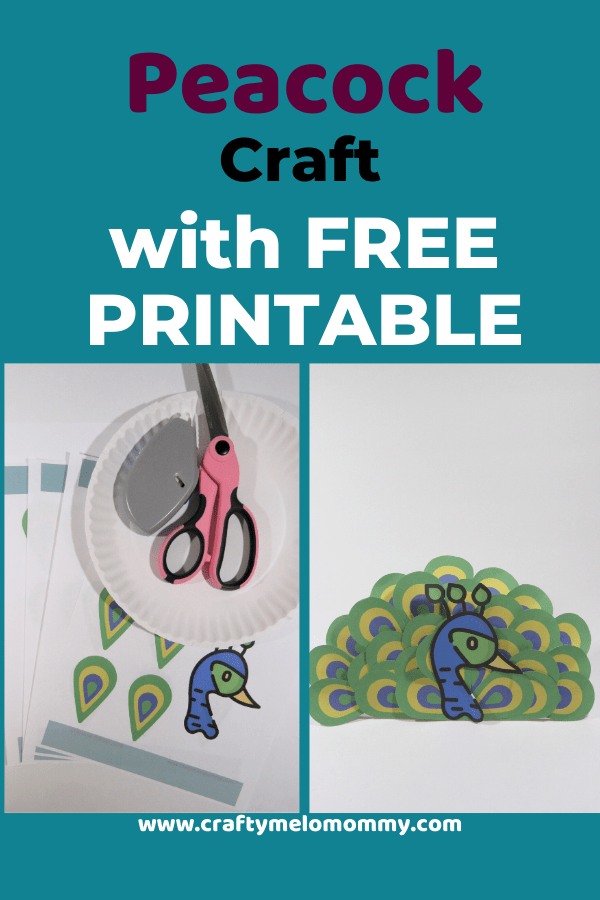 Super simple peacock craft for toddlers and preschoolers to make. Parents can set this craft up ahead of time to make creating the paper plate peacock even easier! All you need are a few supplies. This is a perfect fit for a bird unit study, a trip to the zoo, or just having fun. This peacock paper plate post also includes books and shows about peacocks. Best of all, it has a FREE PRINTABLE to save you time. #howtomakeapeacock #peacockcraftfortoddlers #easypeacockcraftidea #paperplatepeacock