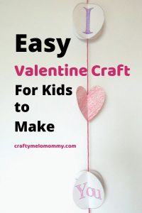 Need a printable Valentine's Day craft? This paper Valentine craft is easy to make and only requires a few supplies. This craft is simple and perfect for toddlers and preschoolers. It makes a great DIY decoration to get your house ready for the Valentine holiday. Or, your kids can make this cute Valentine craft as a gift for a dad, mom, or grandparent. Help your kids say