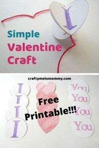 Looking for a cute DIY Valentine decoration your kids can make? This paper Valentine craft is easy to make and only requires a few supplies. This craft is simple and perfect for toddlers and preschoolers. Or, your kids can make this cute Valentine craft as a gift for a dad, mom, or grandparent. Help your kids say