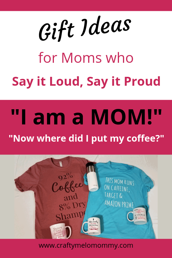 Gifts for moms who love coffee and wearing t-shirts. Great gifts anyone can give. #momlife #whereismycoffee #coffeeanddryshampoo